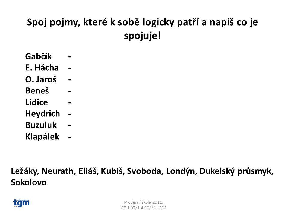 Moderní škola 2011, CZ.1.07/1.4.00/21.1692 Gabčík- Kubiš atentát na Heydricha E.