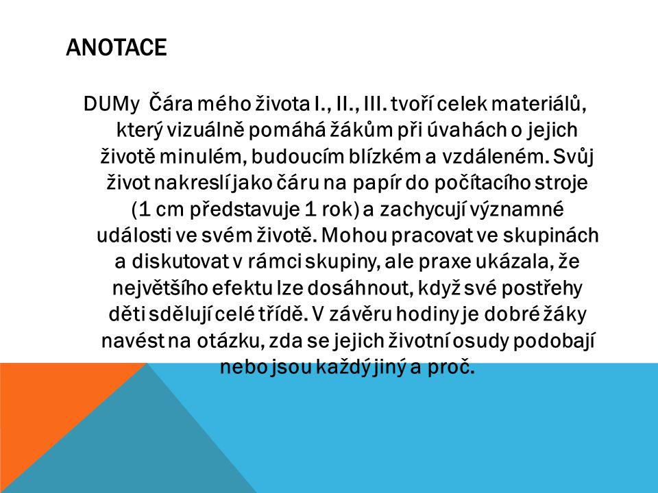 ANOTACE DUMy Čára mého života I., II., III.