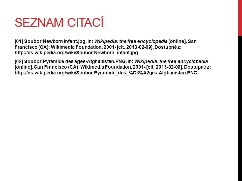 SEZNAM CITACÍ [01] Soubor:Newborn infant.jpg. In: Wikipedia: the free encyclopedia [online].