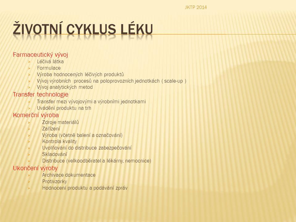  Životní cyklus výrobku: JKTP 2014