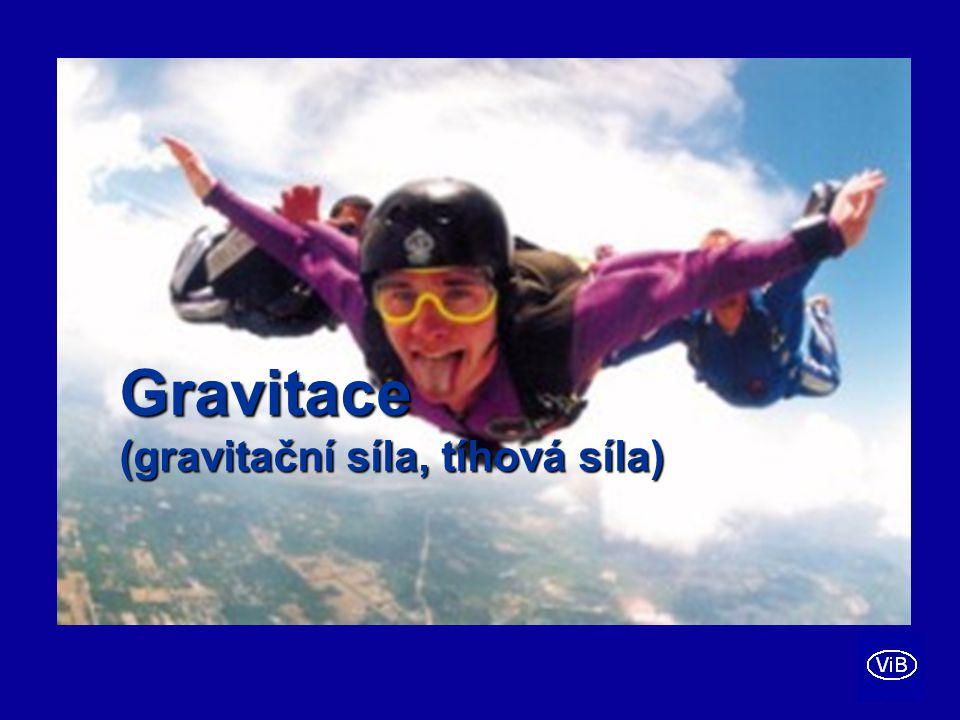 Gravitace (gravitační síla, tíhová síla)