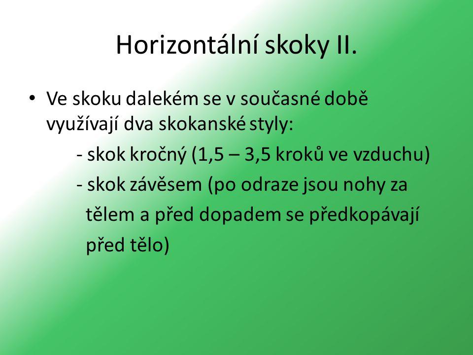 Horizontální skoky II.