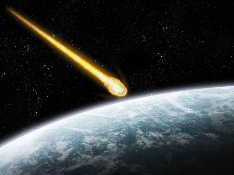 Vznik Meteoru je světelný efekt, vzniklý excitaci a ionizaci molekul atmosféry při průletu meteoroidu atmosférou Meteorické tělísko má zpravidla průměr od jednoho milimetru do jednoho centimetru, pokud se jeho velikost blíží k deseti centimetrům, je meteor jasnější než Venuše a nazýváme ho bolid.