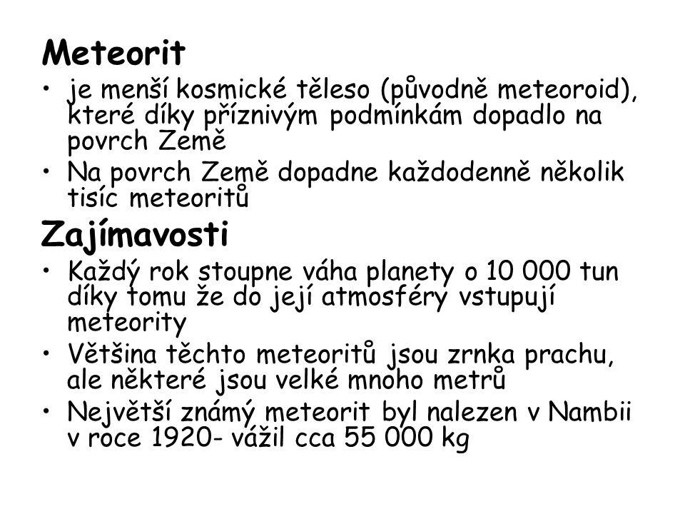 Čím jsou tvořeny meteority.