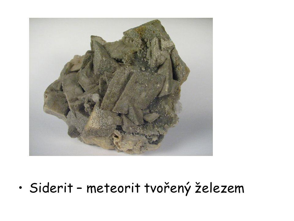 Mezosiderit – meteorit tvořený železem a horninou