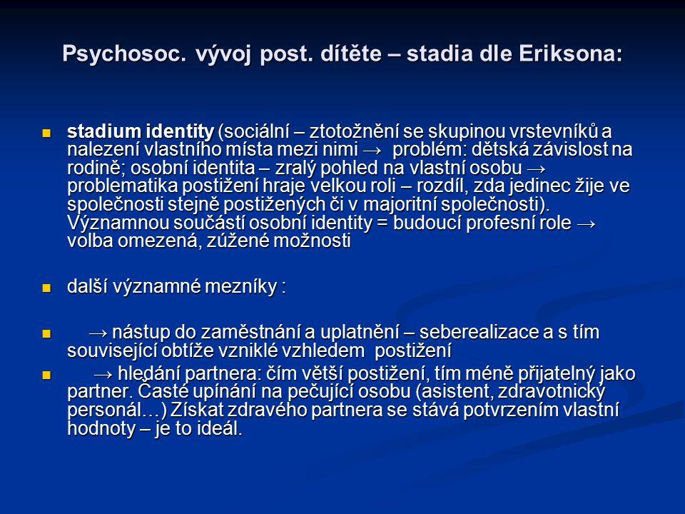 Psychosoc.vývoj post.