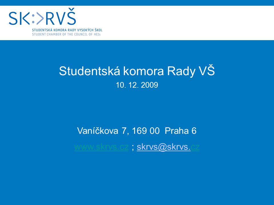 Studentská komora Rady VŠ 10. 12.