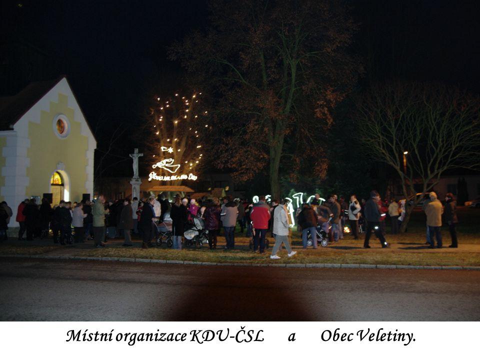 Klidné Vánoce plné radosti, naděje a hodně spokojenosti i optimismu do nového roku přeje Obec VELETINY Místní organizace KDU-ČSL a Obec Veletiny.