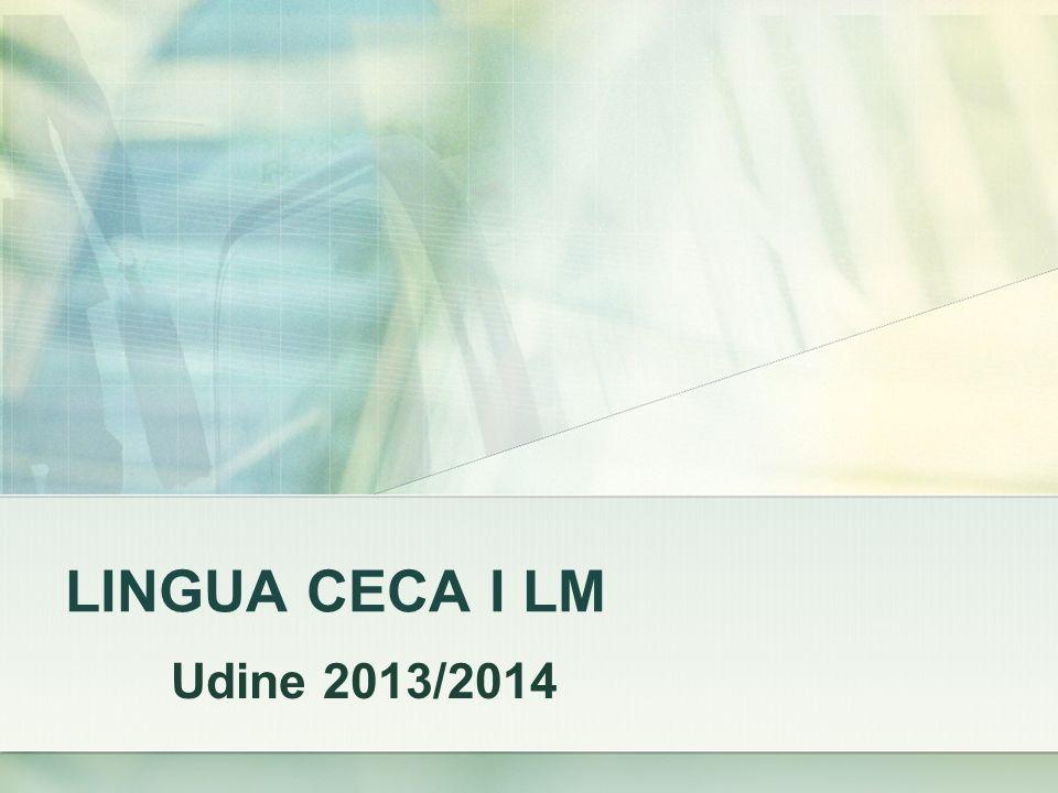 LINGUA CECA I LM Udine 2013/2014
