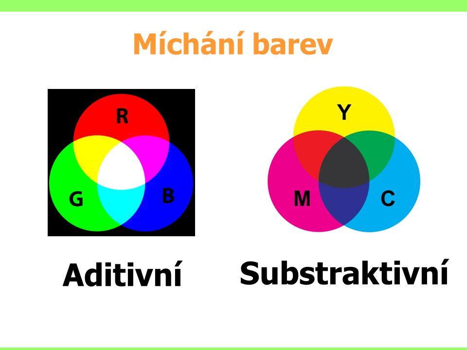 Míchání barev Aditivní Substraktivní