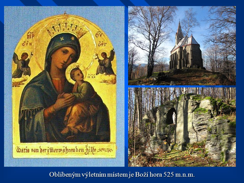 Od kapličky po křížové cestě k vrcholu Boží hory