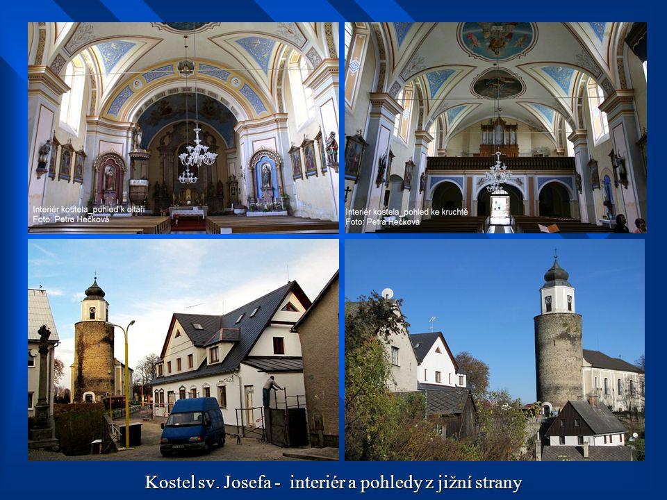 Kostel sv. Josefa – středověké schodiště ve věži kostela