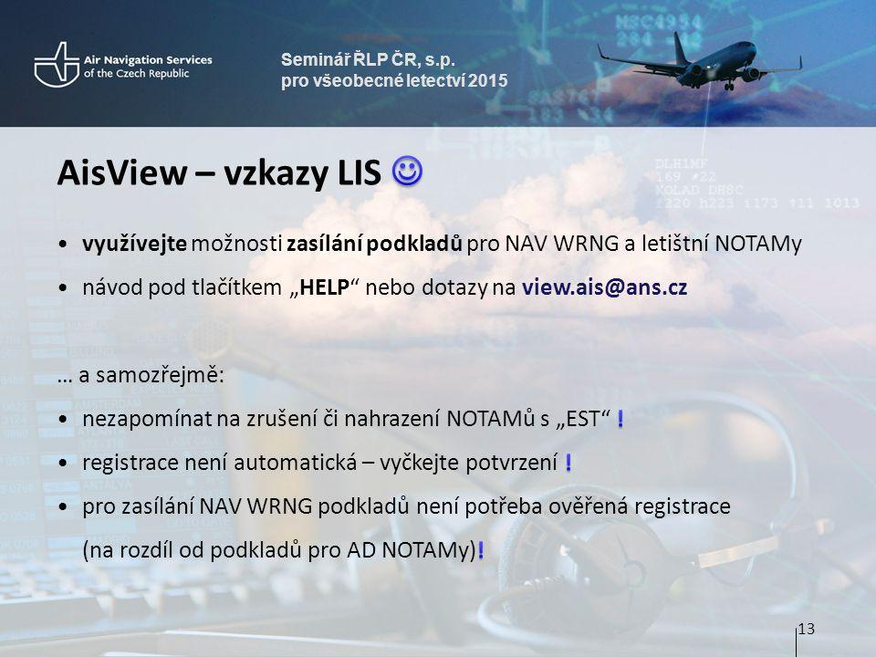 Seminář ŘLP ČR, s.p. pro všeobecné letectví 2015 13