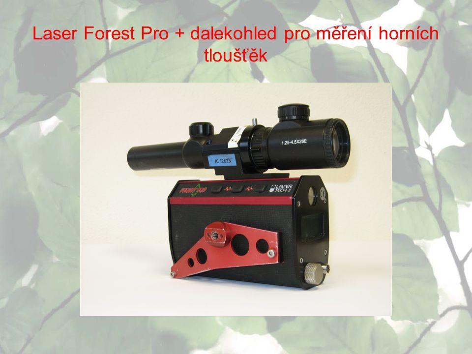 Laser Forest Pro + dalekohled pro měření horních tloušťěk