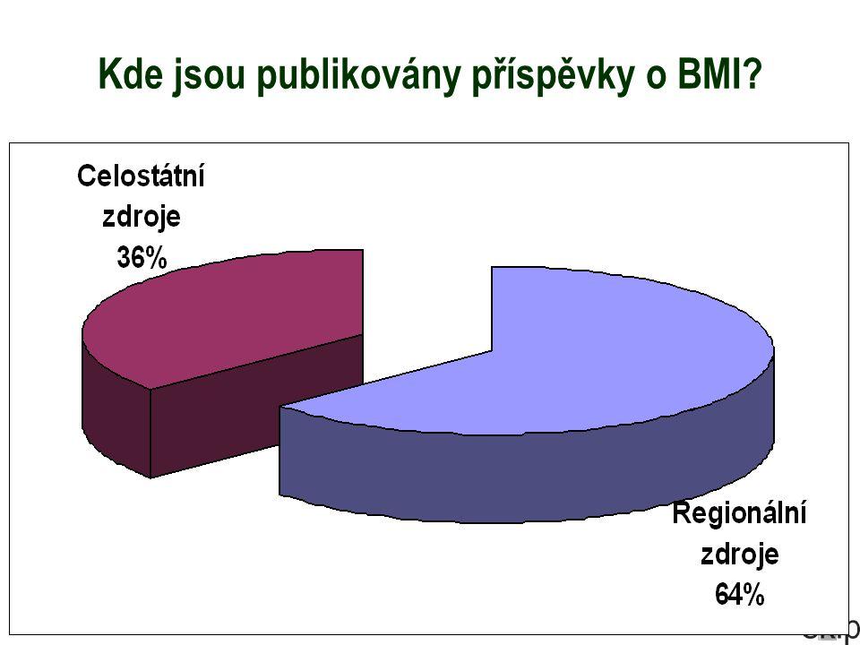 Kde jsou publikovány příspěvky o BMI?