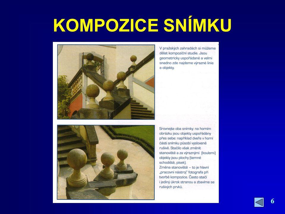 7 FORMÁT OBRAZU Horizontální - je nejběžnější vnímání reality – používá se nejčastěji pro monitory i tisk Vertikální – uplatní se při pořizování snímků architektury nebo ústředního motivu Čtvercový – používá se pro výřez