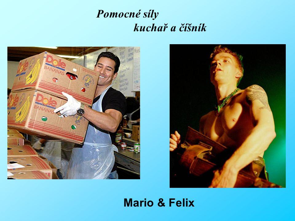 Pomocné síly kuchař a číšník Mario & Felix