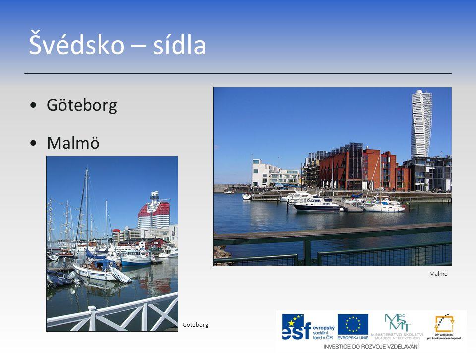 Švédsko – sídla Göteborg Malmö Göteborg
