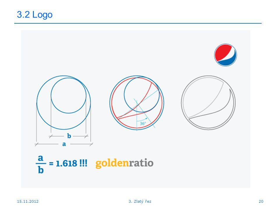 15.11.2012 3.2 Logo 203. Zlatý řez