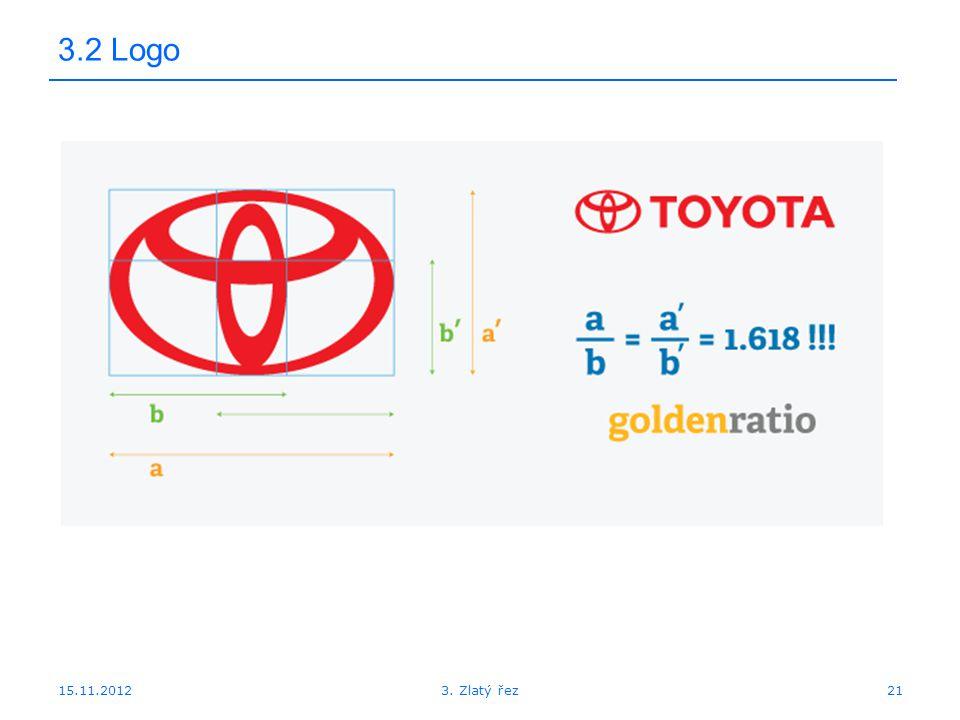 15.11.2012 3.2 Logo 213. Zlatý řez