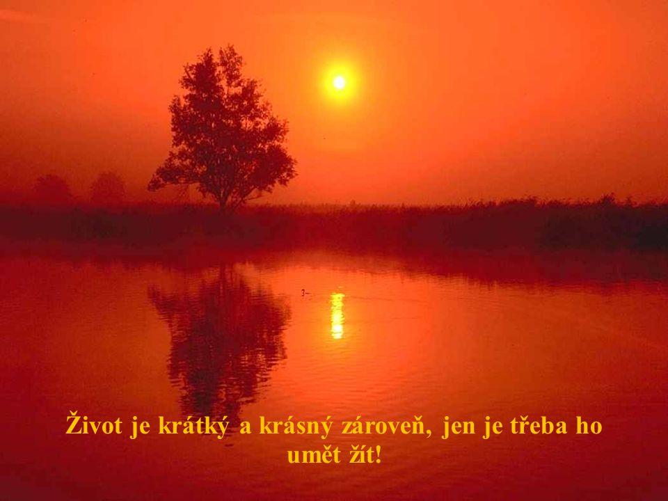 Život je krátký a krásný zároveň, jen je třeba ho umět žít!