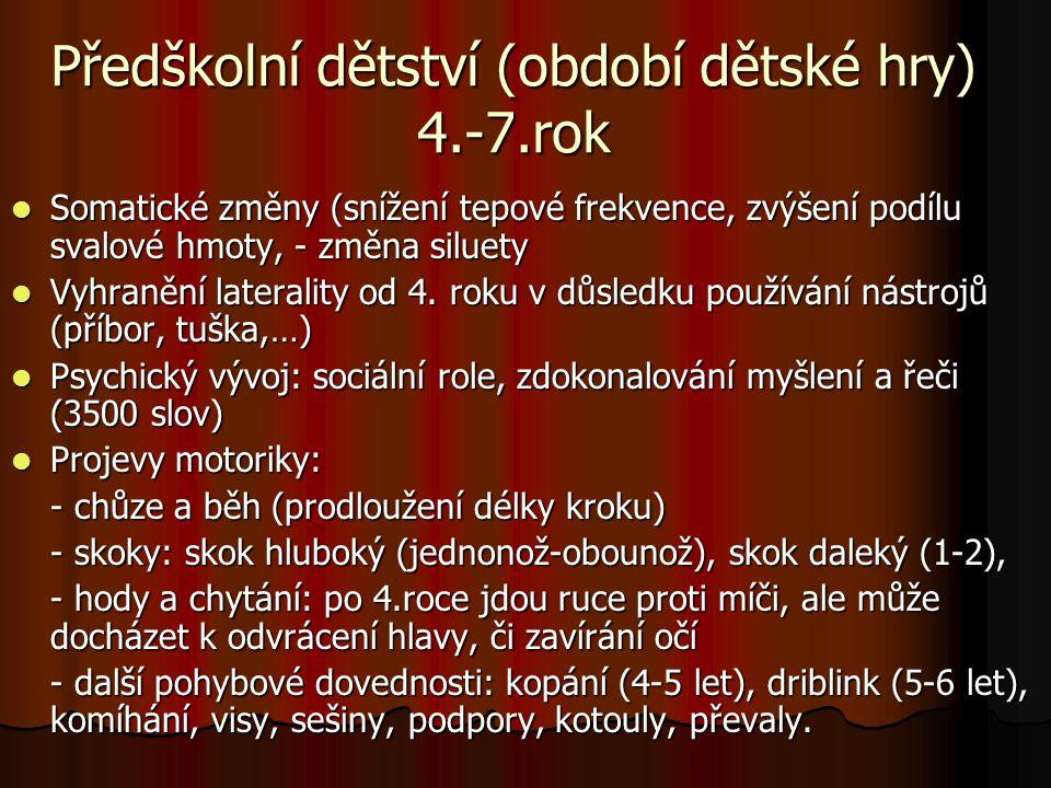 Školní dětství (mladší školní věk) 7.-11.
