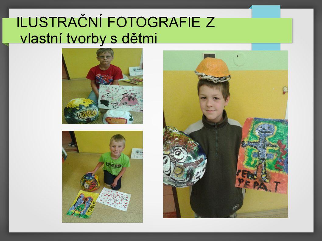 ILUSTRAČNÍ FOTOGRAFIE- INSTALACE VÝSTAVY, Z vlastní tvorby s dětmi