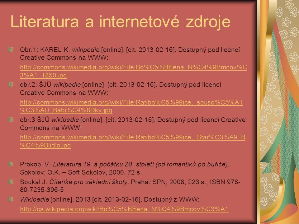 Literatura a internetové zdroje Obr.1: KAREL K. wikipedie [online].
