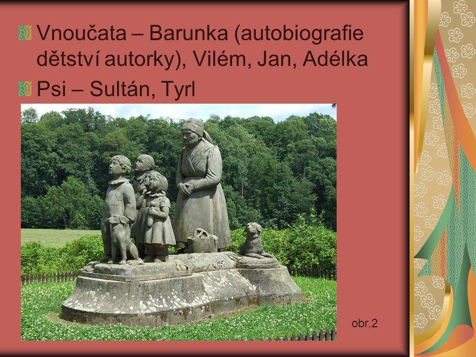 Vnoučata – Barunka (autobiografie dětství autorky), Vilém, Jan, Adélka Psi – Sultán, Tyrl obr.2