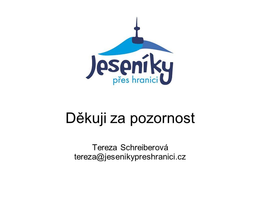 Děkuji za pozornost Tereza Schreiberová tereza@jesenikypreshranici.cz