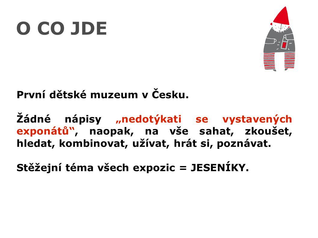"""O CO JDE První dětské muzeum v Česku. Žádné nápisy """"nedotýkati se vystavených exponátů"""", naopak, na vše sahat, zkoušet, hledat, kombinovat, užívat, hr"""