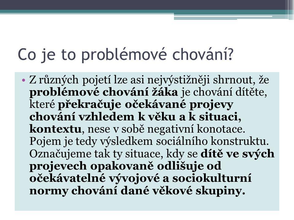 Co je to problémové chování.