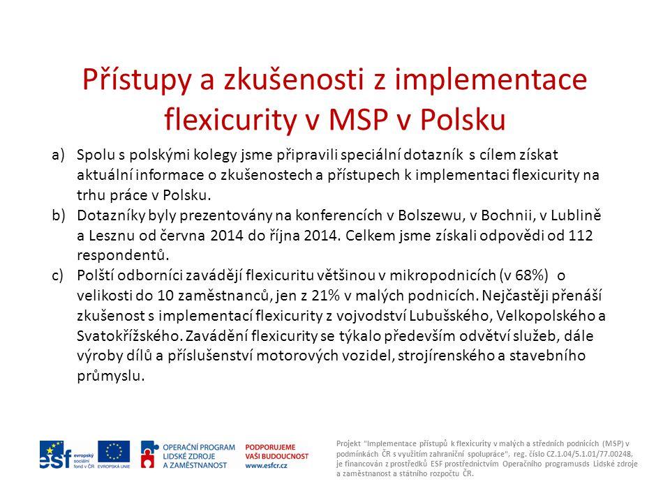Přístupy a zkušenosti z implementace flexicurity v MSP v Polsku Projekt Implementace přístupů k flexicurity v malých a středních podnicích (MSP) v podmínkách ČR s využitím zahraniční spolupráce , reg.