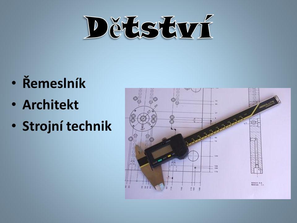 Řemeslník Architekt Strojní technik