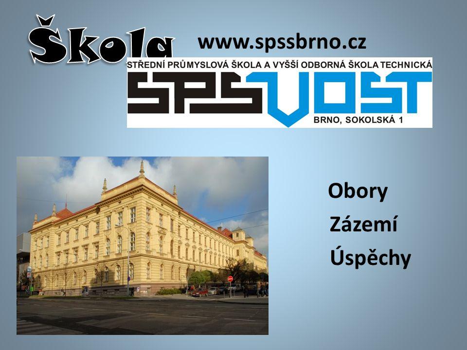 www.spssbrno.cz Obory Zázemí Úspěchy