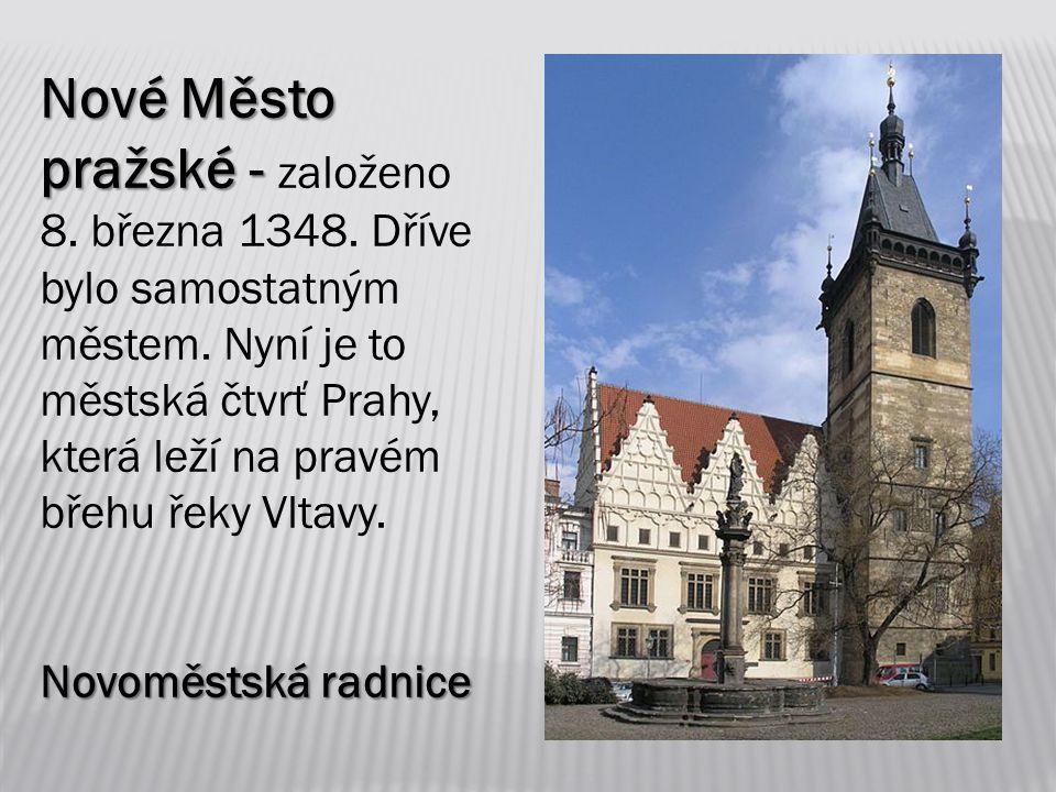 Nové Město pražské - Nové Město pražské - založeno 8.