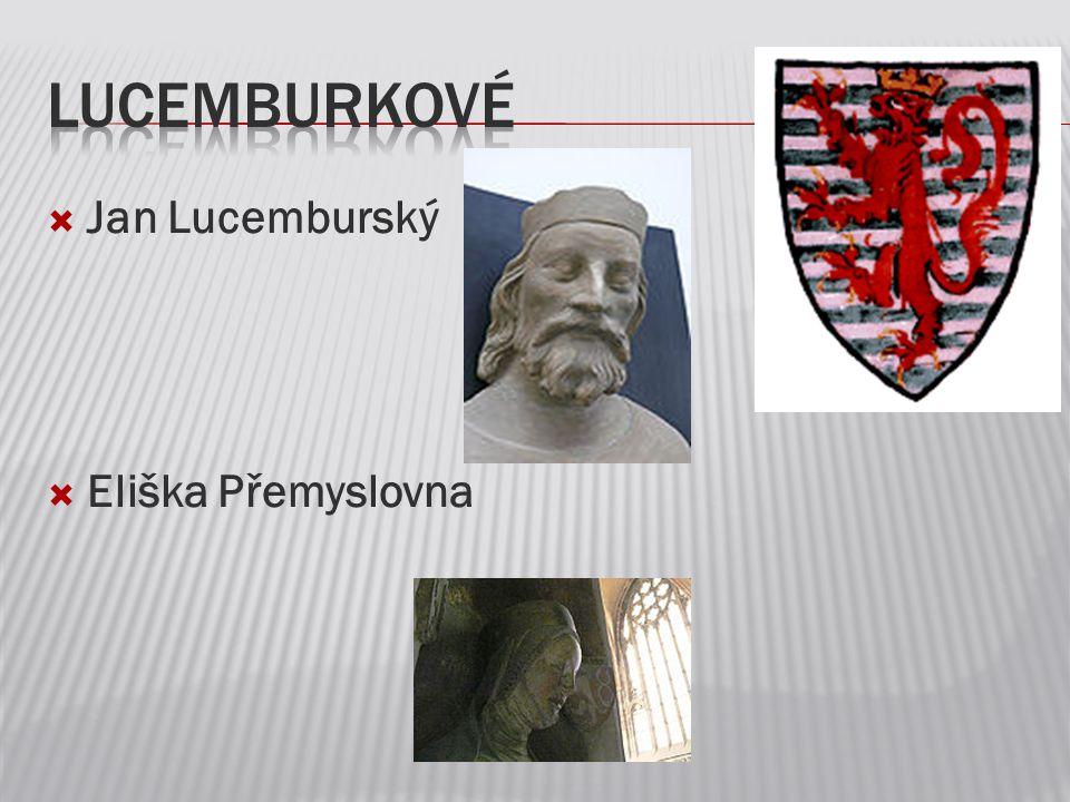  Jan Lucemburský  Eliška Přemyslovna