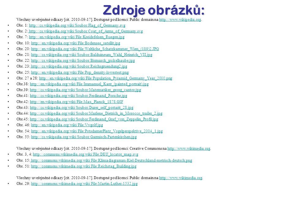 Všechny uveřejněné odkazy [cit.2010-09-17].