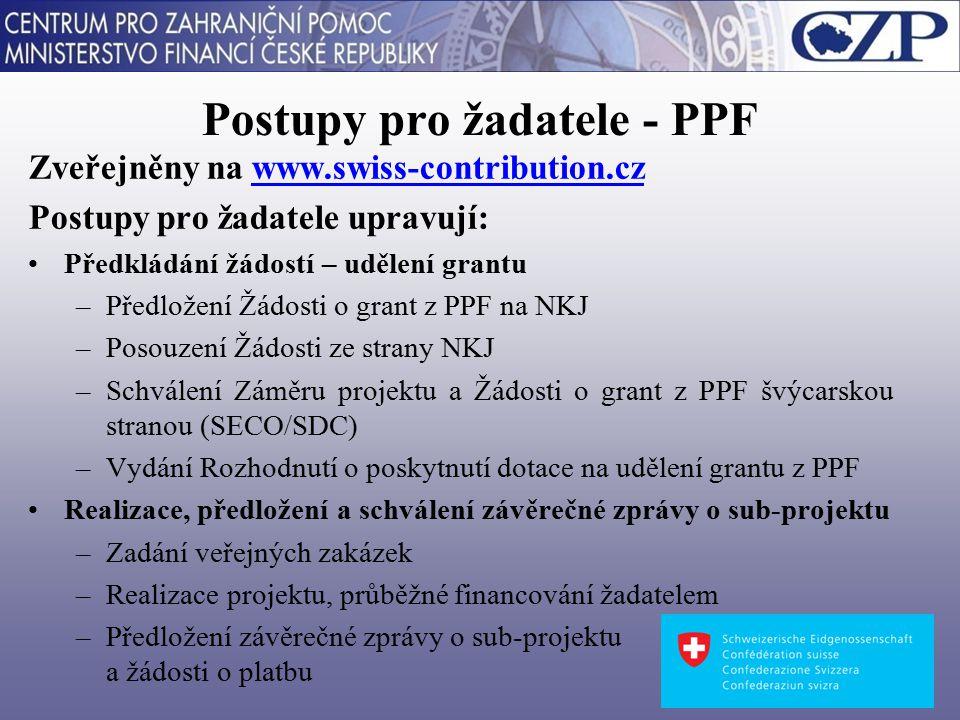 Formulář Žádosti o grant z PPF je předkládán na základě výzvy NKJ je předkládán pouze v anglickém jazyce je přílohou č.
