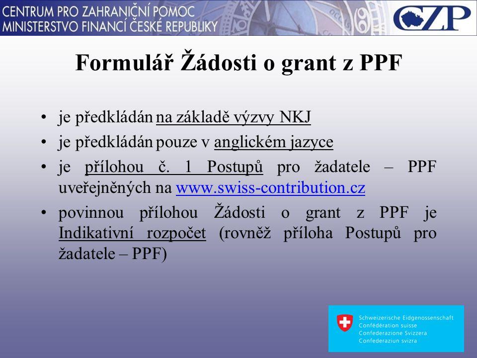 Dostupné informace o Fondu na přípravu projektů www.swiss-contribution.cz czp-swiss@mfcr.cz Děkuji za pozornost Ing.