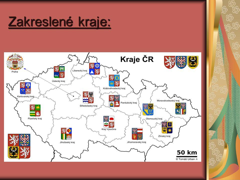 Zakreslené kraje: