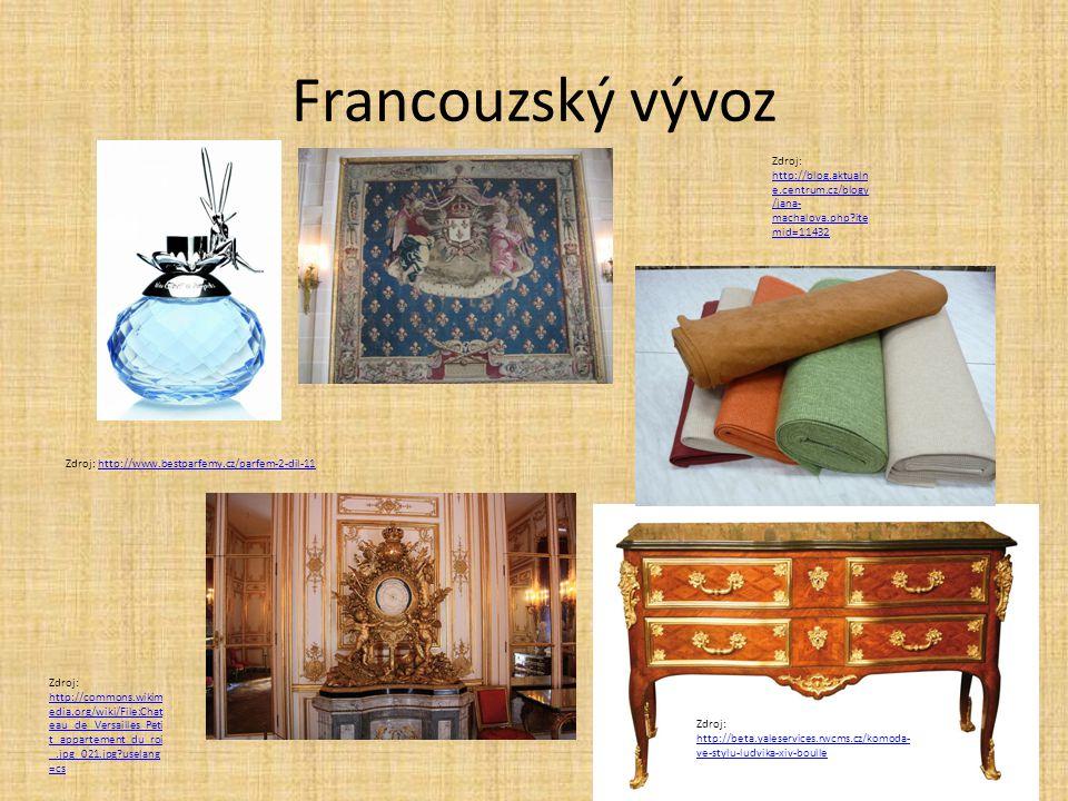 Francouzský vývoz Zdroj: http://www.bestparfemy.cz/parfem-2-dil-11http://www.bestparfemy.cz/parfem-2-dil-11 Zdroj: http://blog.aktualn e.centrum.cz/bl