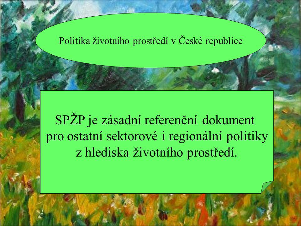 Základní zásady ochrany životního prostředí  Zapojení veřejnosti  Hospodaření se zdroji a udržitelná spotřeba  Znečišťovatel platí  Princip předběžné opatrnosti  Zásada integrace  Zvyšování povědomí veřejnosti o otázkách životního prostředí