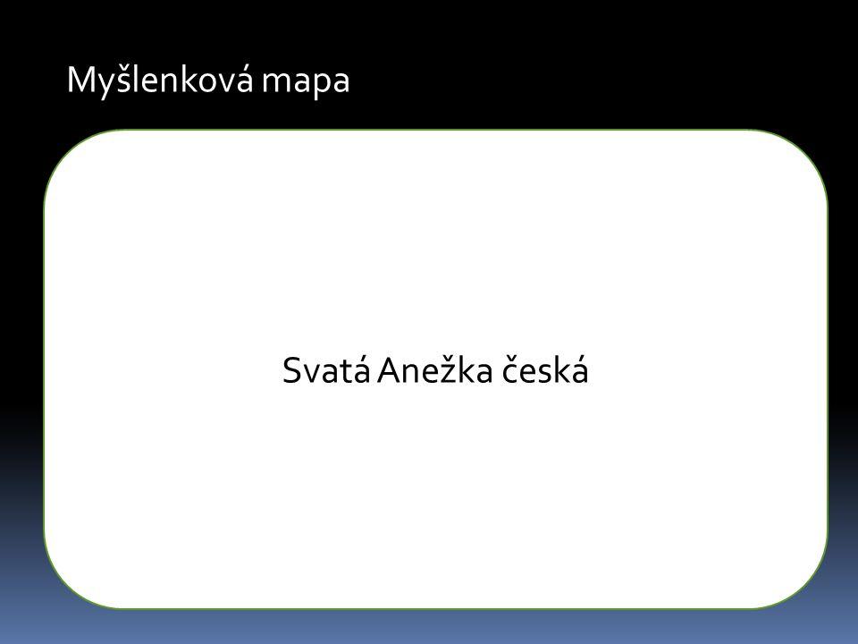 Myšlenková mapa Svatá Anežka česká