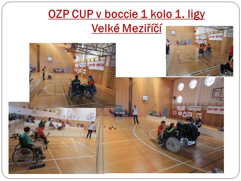 OZP CUP v boccie 1 kolo 1. ligy Velké Meziříčí