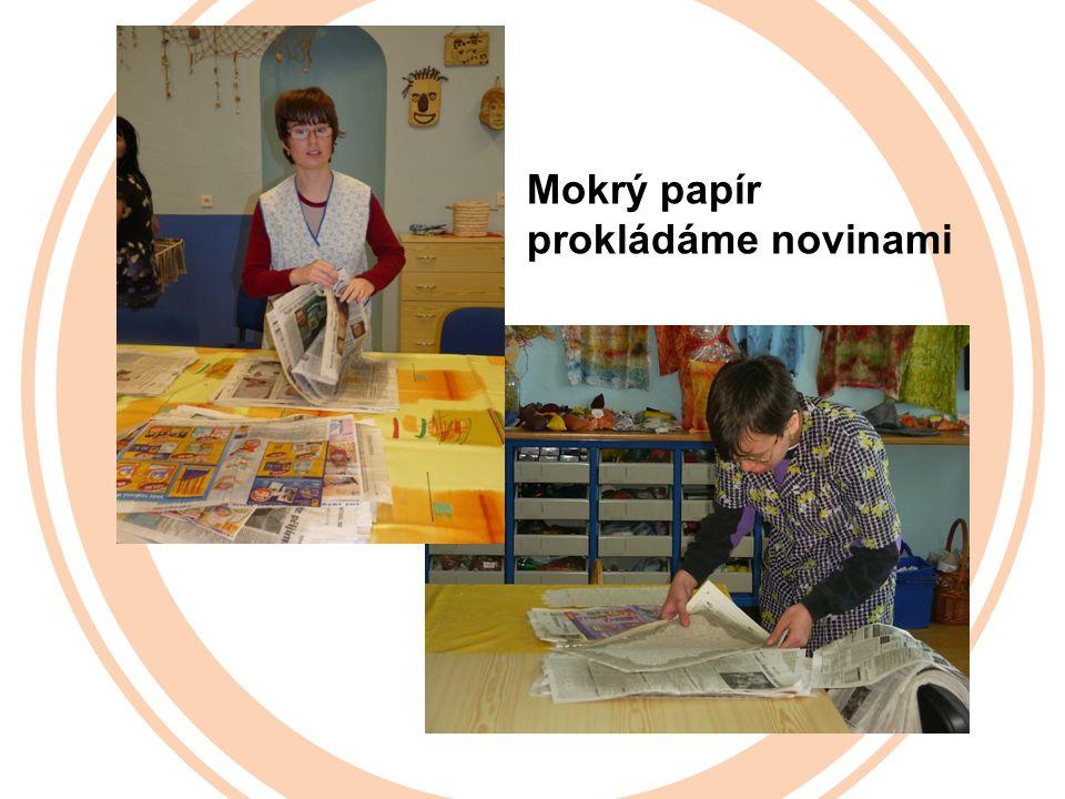Mokrý papír prokládáme novinami