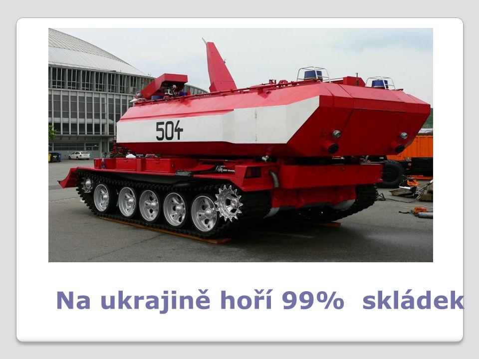 Na ukrajině hoří 99% skládek