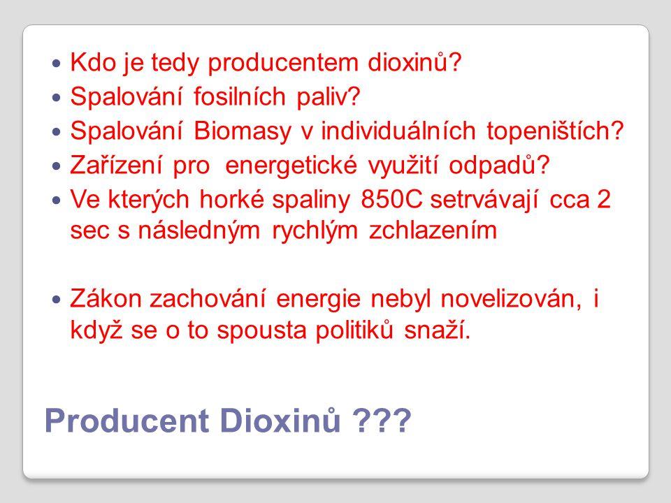 Producent Dioxinů . Kdo je tedy producentem dioxinů.
