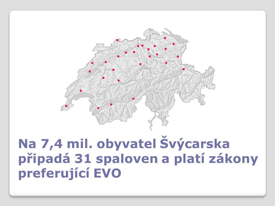 Na 7,4 mil. obyvatel Švýcarska připadá 31 spaloven a platí zákony preferující EVO