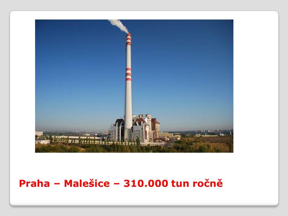 Praha – Malešice – 310.000 tun ročně